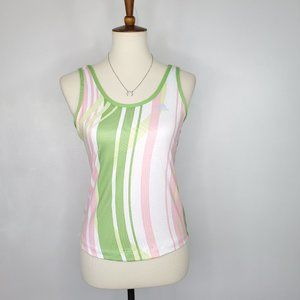 Adidas Curve Striped Sport Athletic Wear Top, S